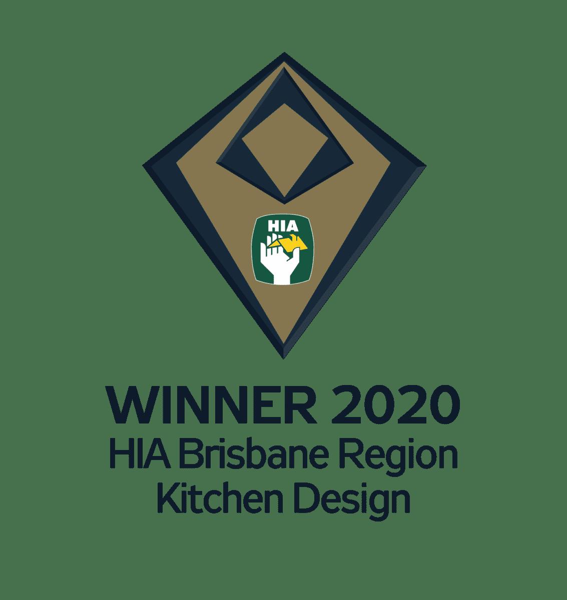 Winner 2020 Brisbane Region Kitchen Design